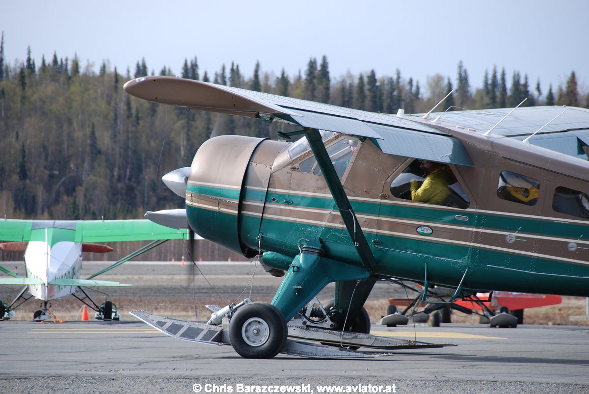 Beaver on skis and tires, Talkeetna Alaska