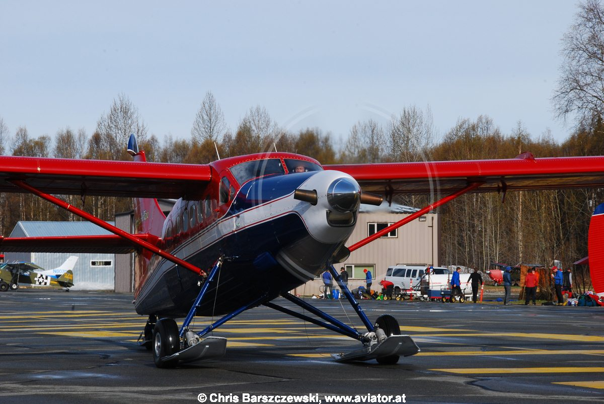 De Hevilland Turbo Otter at the Talkeetna Airport, Alaska